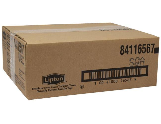 Lipton Green with Citrus Iced Tea Bags, 3 gallon -- 16 per case