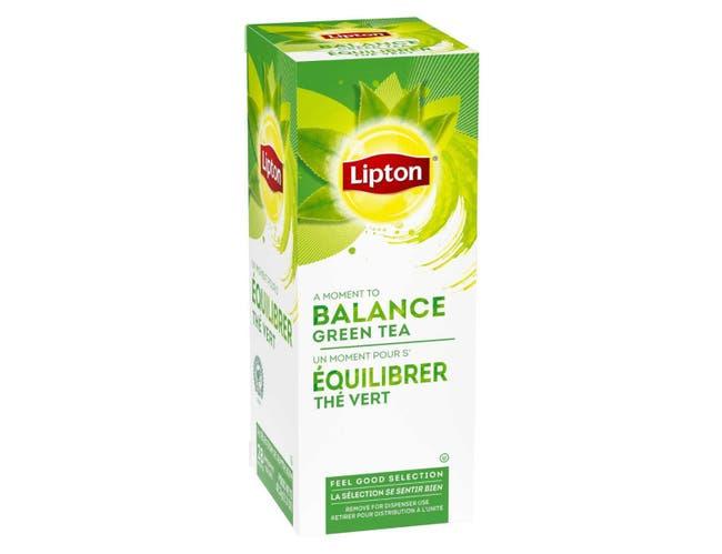 Lipton 100 Percent Natural Green Enveloped Hot Tea Bags, 28 count -- 6 per case