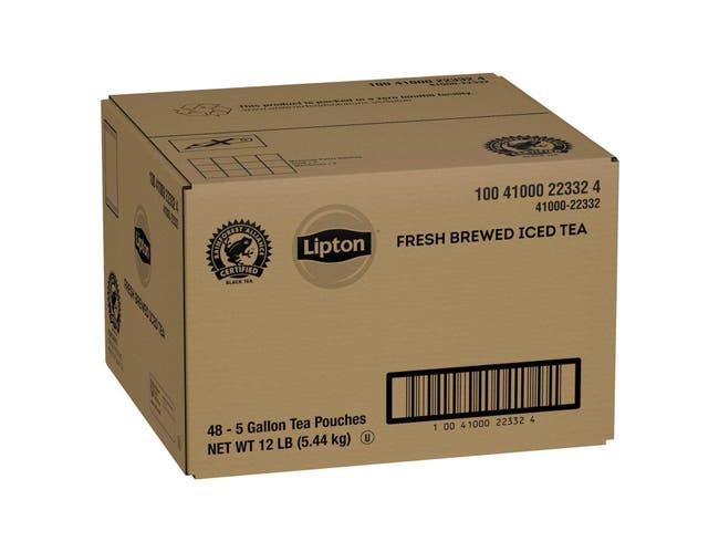 Lipton Black Iced Tea Bags Unsweetened, 5 gallon -- 48 per case