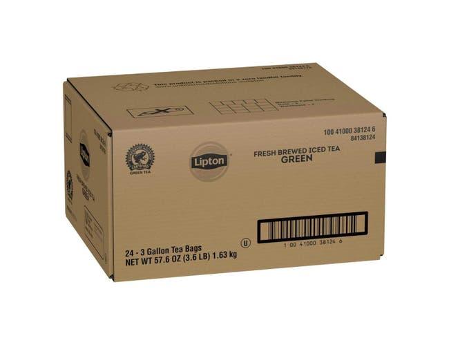 Lipton Green Iced Tea Bags Unsweetened, 3 gallon -- 24 per case