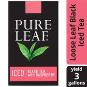Pure Leaf Black with Raspberry Iced Loose Tea Pouch Unsweetened, 3 gallon -- 24 per case