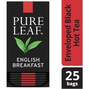 Pure Leaf English Breakfast Enveloped Hot Tea Bags, 25 count -- 6 per case