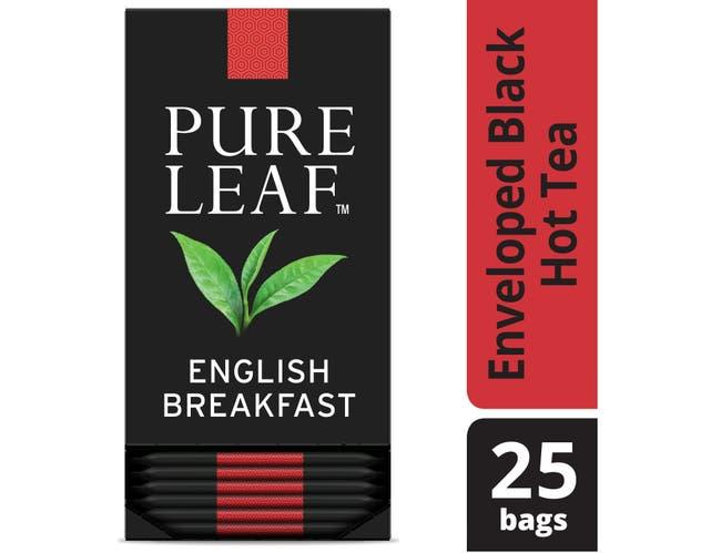 Pure Leaf English Breakfast Enveloped Hot Tea Bags, 25 count -- 6 per case