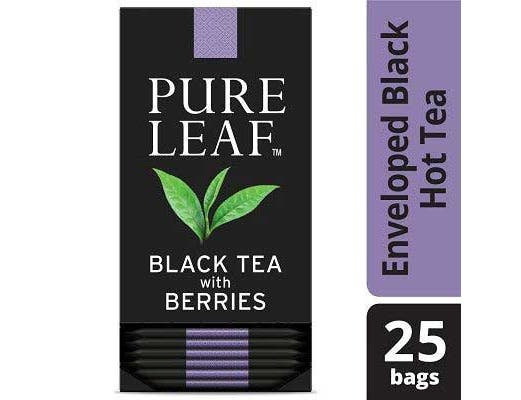 Pure Leaf Black with Berries Enveloped Hot Tea Bags, 25 count -- 6 per case