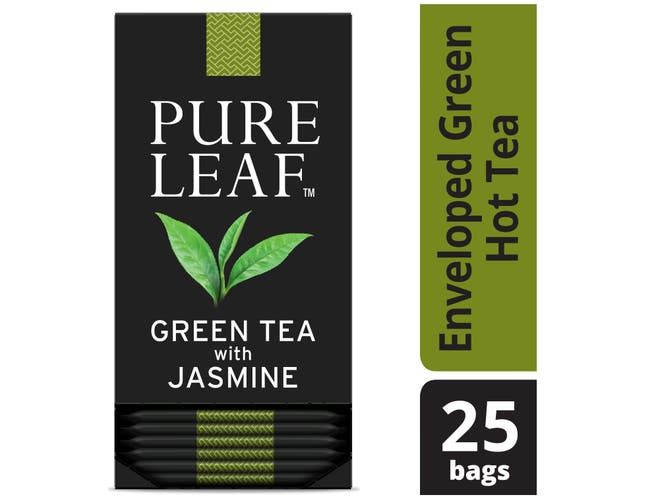 Pure Leaf Green with Jasmine Enveloped Hot Tea Bags, 25 count -- 6 per case