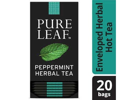 Pure Leaf Peppermint Enveloped Hot Tea Bags, 20 count -- 6 per case
