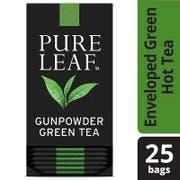 Pure Leaf Gunpowder Green Enveloped Hot Tea Bags, 25 count -- 6 per case