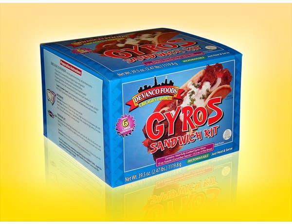 Devanco Gyros Sandwich Kit -- 6 per case.