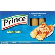 Manicotti Pasta 12 Case 8 Ounce
