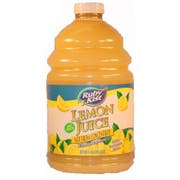 Juice Lemon Plastic Bottle 4 Case 1 Gallon