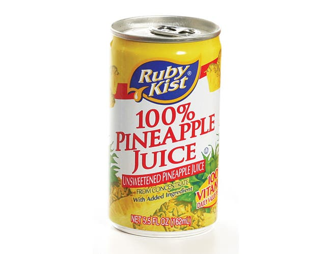 Juice Rubykist Pineapple Aluminum Can 48 Case 5.5 Ounce