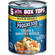 Progresso Rich and Hearty Chicken and Homestyle Noodles Soup, 19 Ounce -- 12 per case.