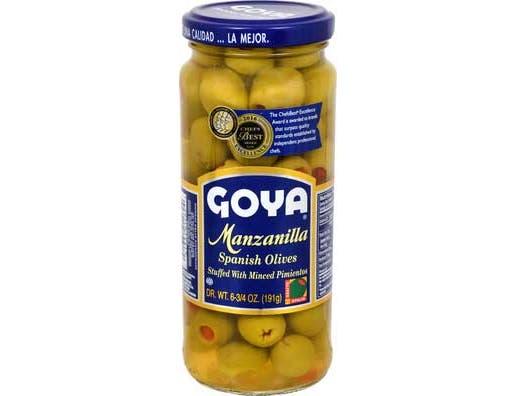 Goya Manzanilla Stuffed Olive, 6.75 Ounce -- 24 per case.