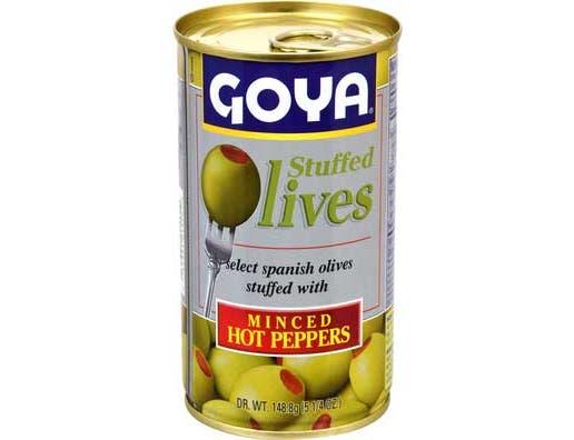 Goya Manzanilla Stuffed Olive, 5.25 Ounce -- 12 per case.