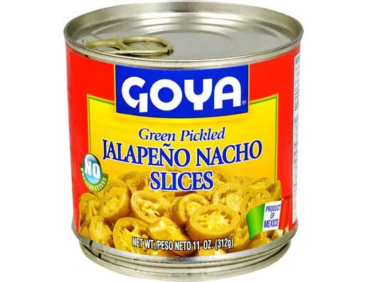 Goya Pickled Nacho Jalapeno Peppers, 11 Ounce -- 12 per case.