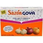 Sazon Goya with Garlic and Onion - 3.52 oz. box, 18 per case