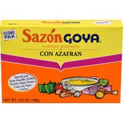 Goya Sazon Azafran - 3.52 oz. box, 18 per case