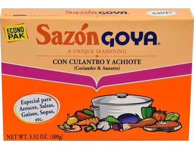 Goya Sazon with Coriander and Annatto - 3.52 oz. box, 18 per case