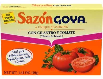 Goya Sazon with Tomato and Coriander - 1.41 oz. box, 36 per case
