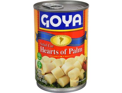 Goya Salad Cut Palmito, 14 Ounce -- 12 per case.