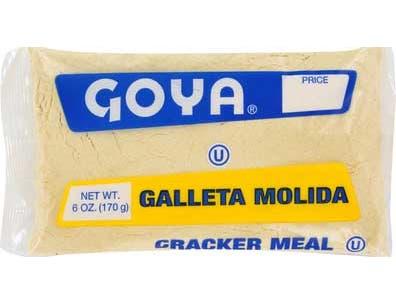 Goya Cracker Meal - 6 oz. bag, 36 per case