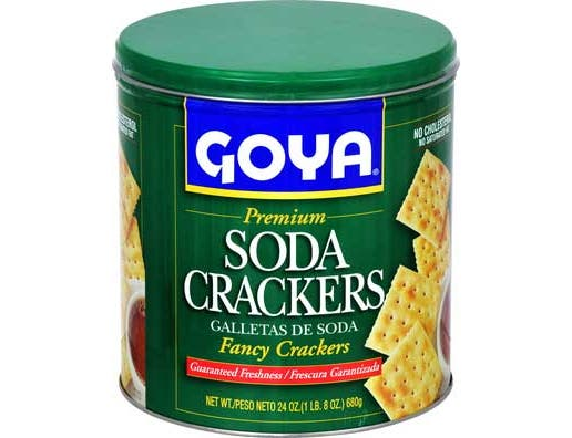 Goya Soda Cracker - 24 oz. canister, 12 per case