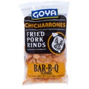 Goya Chicharrones Barbecue Flavored Fried Pork Rinds, 3 Ounce -- 12 per case