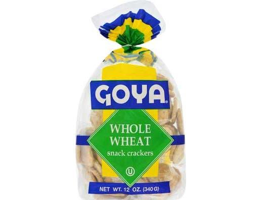 Goya Whole Wheat Snack Crackers - 12 oz. bag, 12 per case