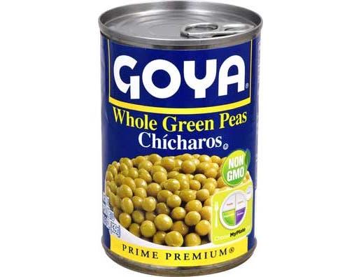 Goya Canned Whole Green Peas, 15.5 oz. bag, 24 bags per case