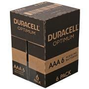 Duracell Optimum AAA 6 Alkaline Battery, 6 count per pack -- 24 per case