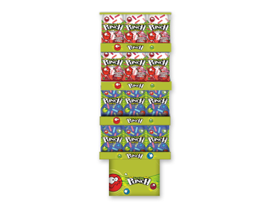 Sour Punch Bites Ragin Reds Assorted Candy - Floor Display, 9 Ounce -- 36 per case.