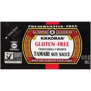 Kikkoman Gluten Free Tamari Soy Sauce, 6 Milliliter Packet -- 200 per case.