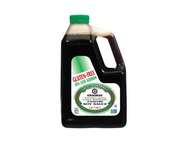 Kikkoman Gluten Free Low Sodium Tamari Soy Sauce, 0.5 Gallon -- 6 per case.