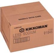 Kikkoman Less Sodium Teriyaki Sauce, 0.5 Gallon -- 6 per case.