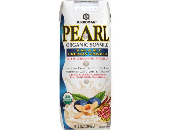 Pearl Organic Smart Creamy Vanilla Soymilk, 8 Fluid Ounce -- 24 per case.