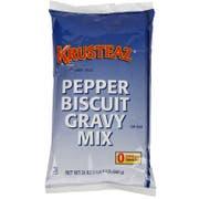 Continental Mills Krusteaz Pepper Biscuit Gravy Mix, 1.5 Pound -- 6 per case