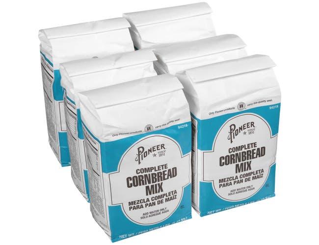Pioneer Complete Corn Bread Mix, 5 Pound -- 6 per case.