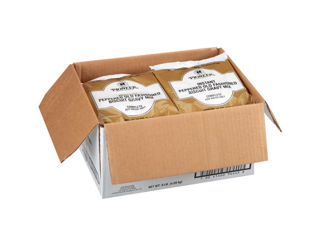 Pioneer Instant Peppered Old Fashioned Biscuit Gravy Mix, 12 Ounce -- 12 per case.