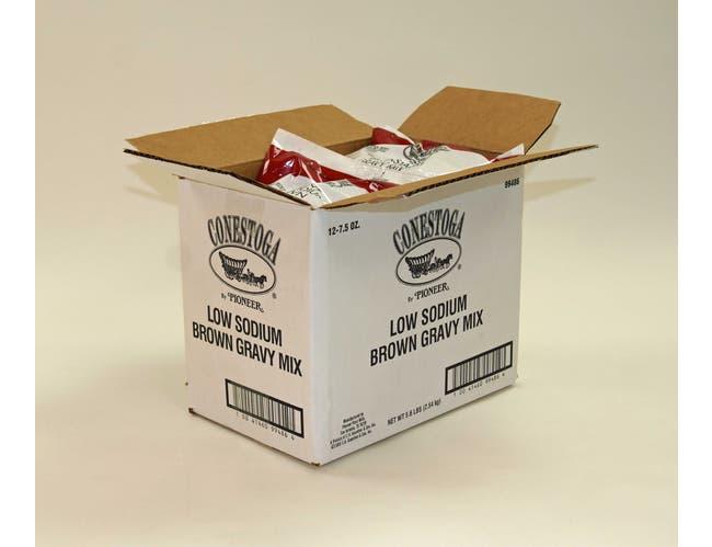 Conestoga Low Sodium Brown Gravy Mix, 7.5 Ounce -- 12 per case.