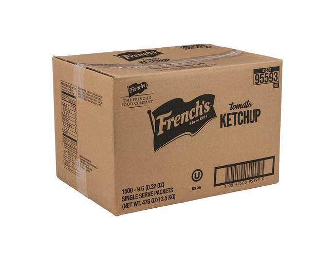 Frenchs Tomato Ketchup, 9 Gram -- 1500 per case.