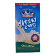 Almond Breeze Original Unsweetened Almond Milk, 64 Ounce -- 8 per case.
