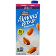 Almond Breeze Unsweetened Vanilla, Non Dairy Beverage, 32 Ounce -- 12 per case.