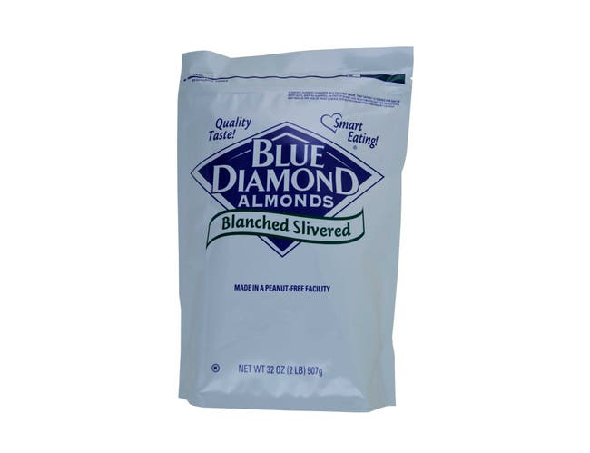 Blue Diamond Blanched Slivered Almonds, 2 Pound -- 4 per case.