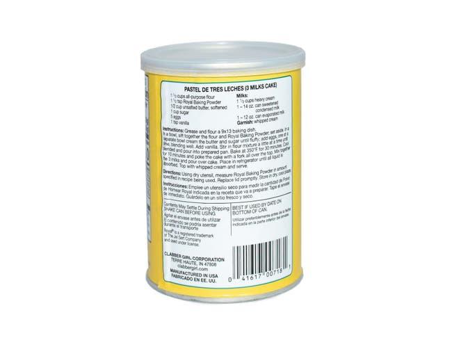 Royal Baking Powder, 8.1 Ounce -- 12 per case.
