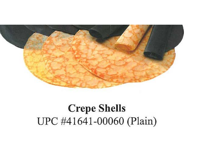 Old Fashioned Kitchen Plain Crepe Shell, 6 Ounce -- 200 per case.