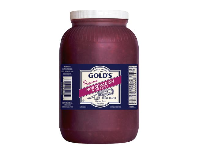 Golds Horseradish with Beets, 1 Gallon -- 1 each.