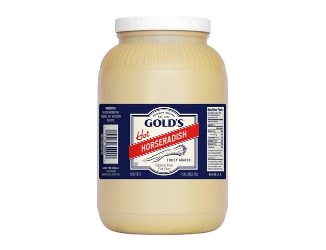 Golds Hot Creamstyle Horseradish, 1 Gallon -- 4 per case.