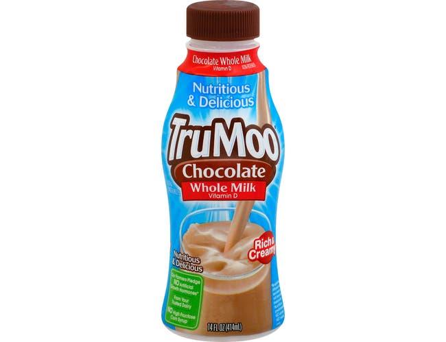 Trumoo Chocolate Ultra Pasteurized Whole Milk, 14 Fluid Ounce -- 12 per case.