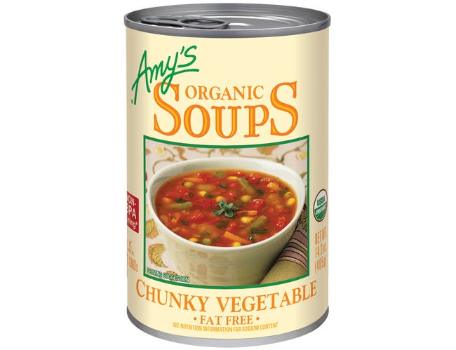 Amys Organic Chunky Vegetable Soup, 14.3 Ounce -- 12 per case.