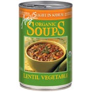 Amys Organic Light in Sodium Lentil Vegetable Soup, 14.5 Ounce -- 12 per case.